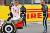 PRESENTAZIONE MONOPOSTO 2022, (L to R): Mick Schumacher (GER) Haas F1 Team e Valtteri Bottas (FIN) Mercedes AMG F1 - 2022 Car Launch. 15.07.2021. Formula 1 World Championship, Rd 10, British Grand Prix, Silverstone, England, Preparation Day. - www.xpbimages.com, EMail: requests@xpbimages.com © Copyright: Batchelor / XPB Images