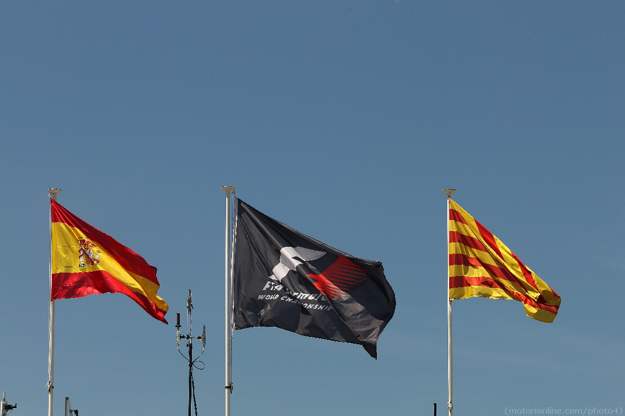 10.05.2012- Flags of Spain, F1 and Catalunya