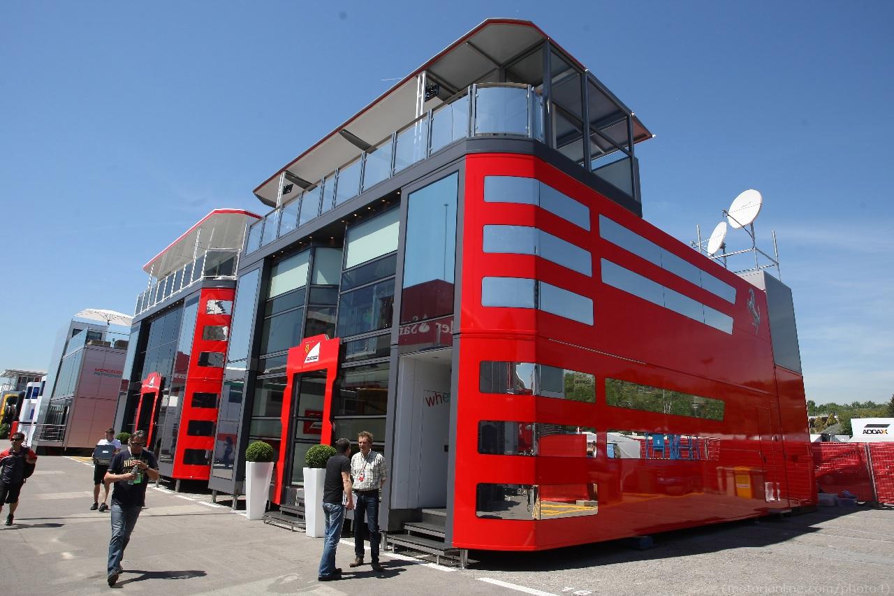 10.05.2012- Scuderia Ferrari  motorhome