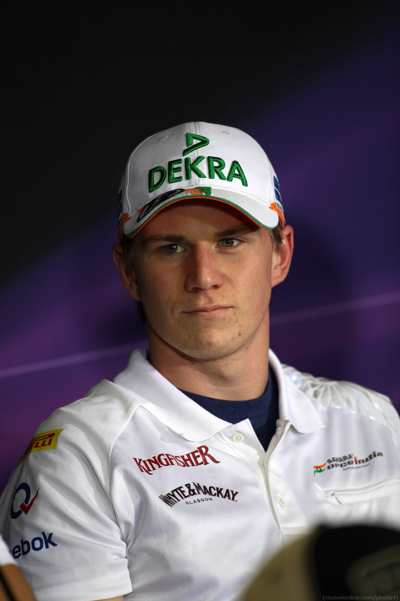 10.05.2012- Press conference, Nico Hulkenberg (GER) Sahara Force India F1 Team VJM05