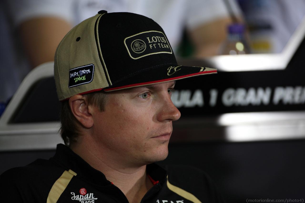 10.05.2012- Press conference, Kimi Raikkonen (FIN) Lotus F1 Team E20