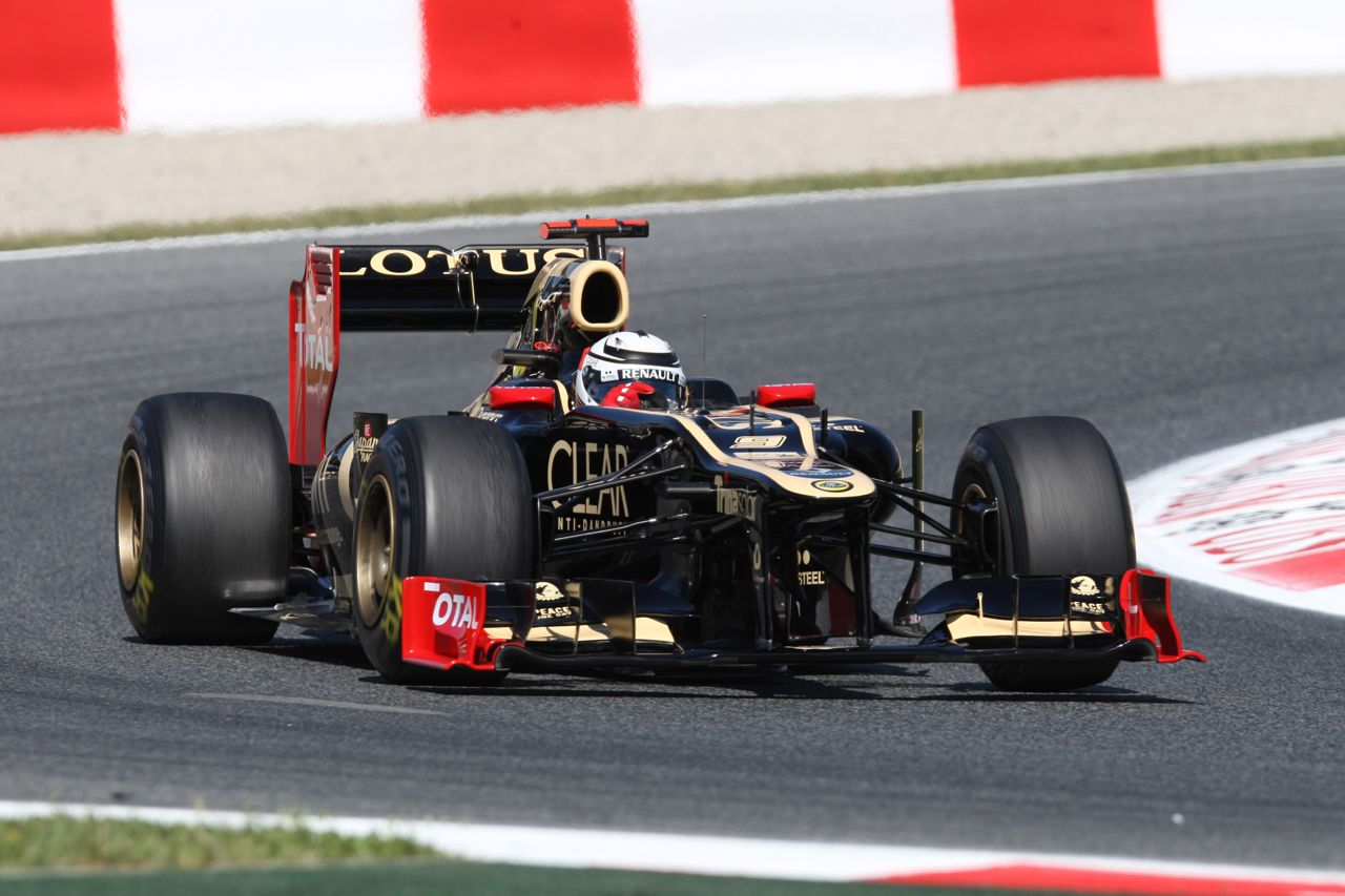 11.05.2012- Free Practice 1, Kimi Raikkonen (FIN) Lotus F1 Team E20