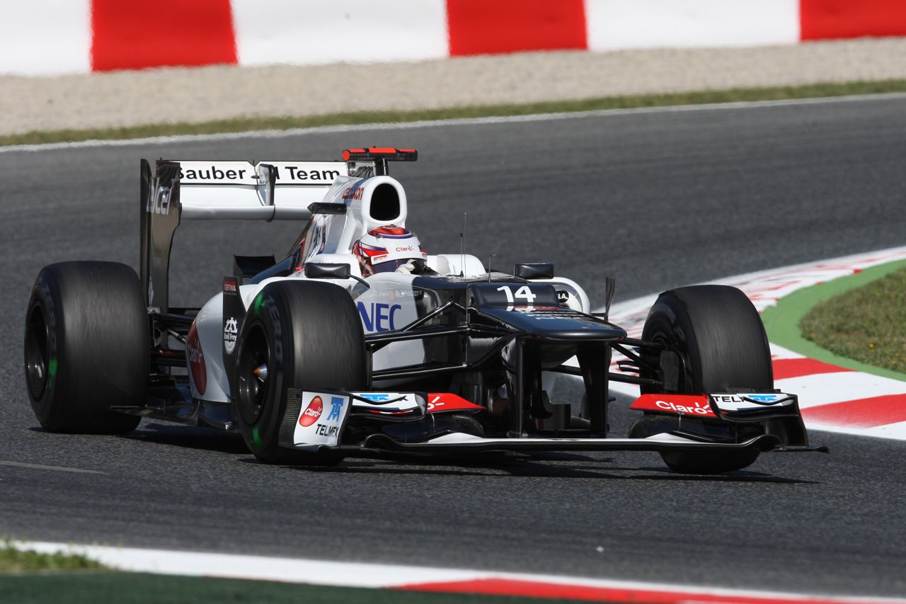 11.05.2012- Free Practice 1, Kamui Kobayashi (JAP) Sauber F1 Team C31