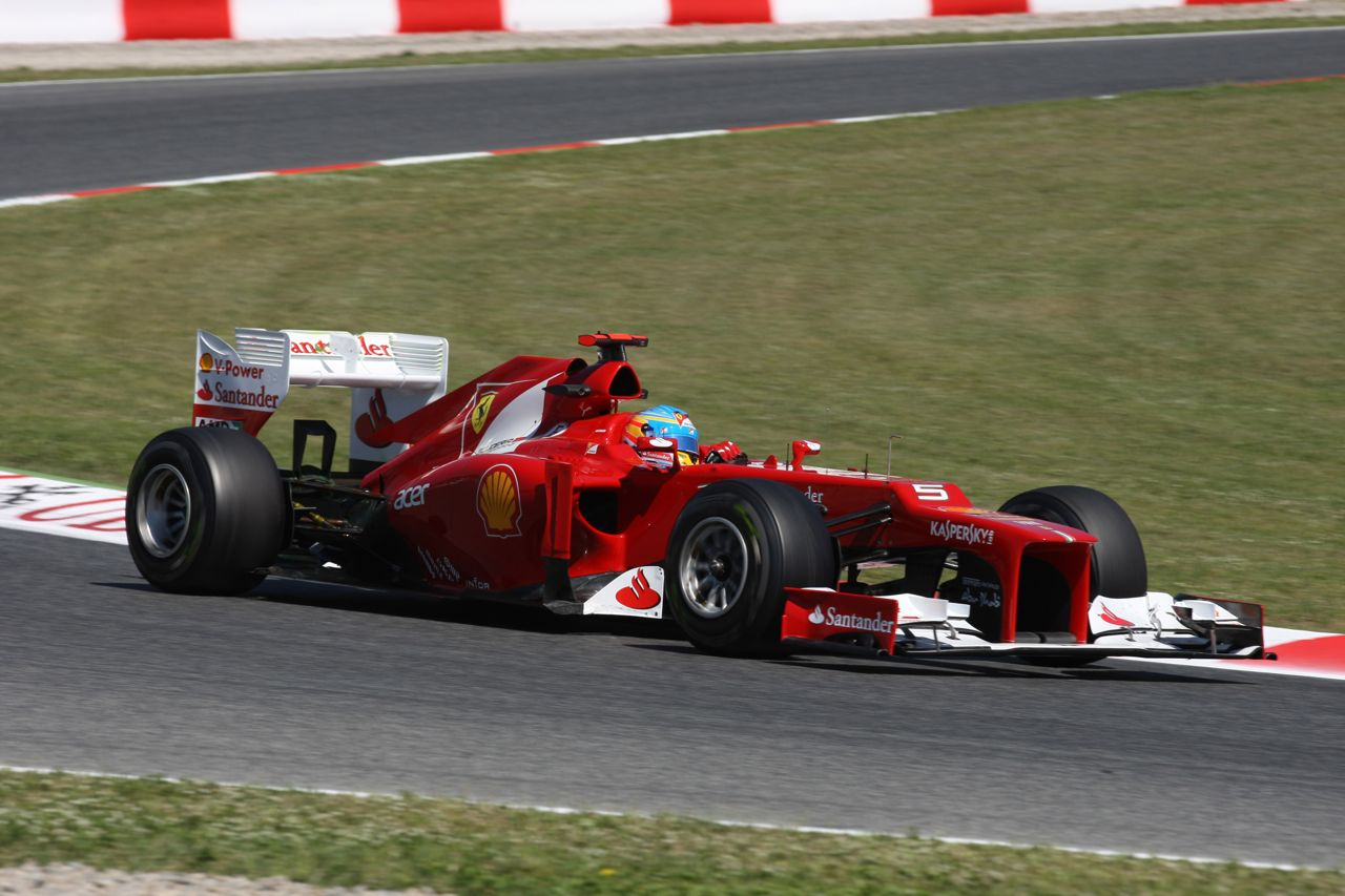 11.05.2012- Free Practice 1, Fernando Alonso (ESP) Scuderia Ferrari F2012
