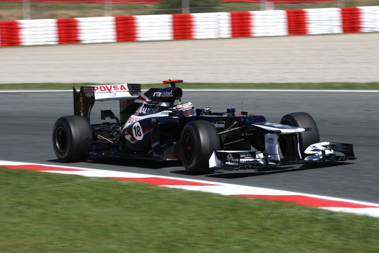 11.05.2012- Free Practice 1, Pastor Maldonado (VEN) Williams F1 Team FW34