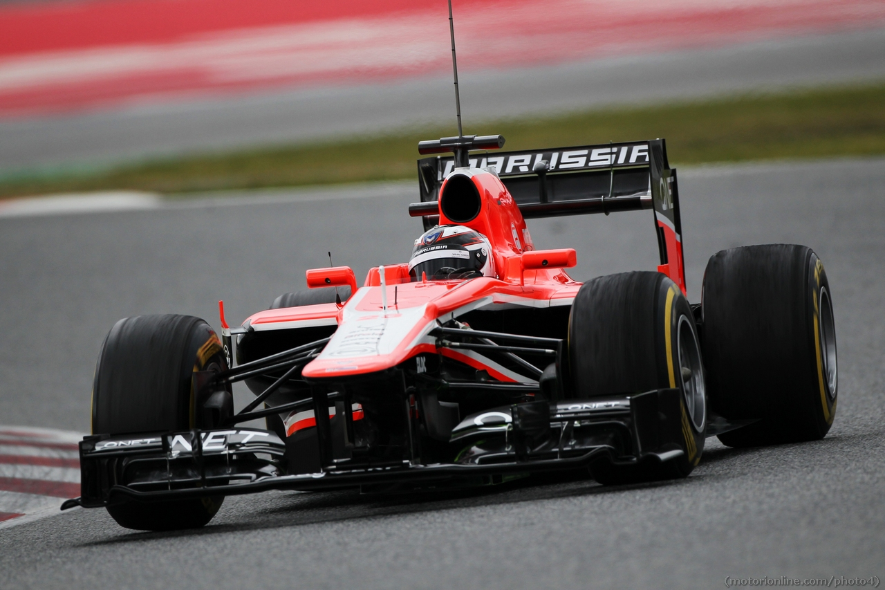Max Chilton (GBR) Marussia F1 Team MR02. 01.03.2013.