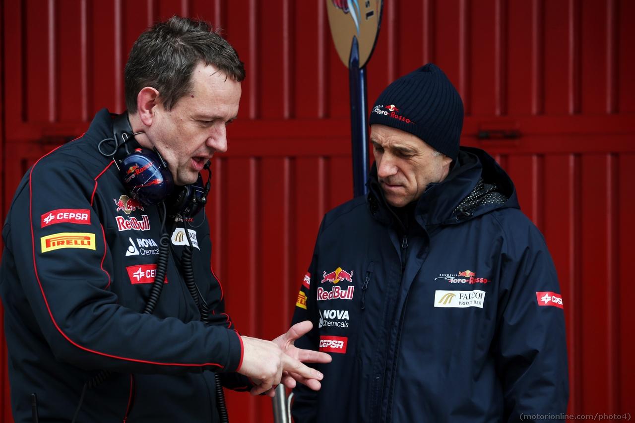 (L to R): Steve Nielsen (GBR) Scuderia Toro Rosso Sporting Director with Franz Tost (AUT) Scuderia Toro Rosso Team Principal  01.03.2013.