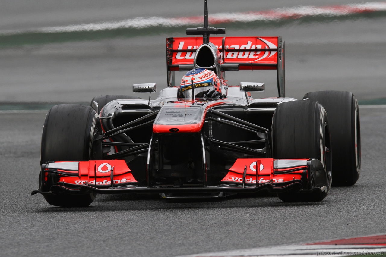 Jenson Button (GBR) McLaren MP4-28. 01.03.2013.