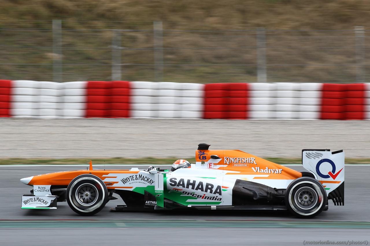 Adrian Sutil (GER) Sahara Force India VJM06. 01.03.2013.