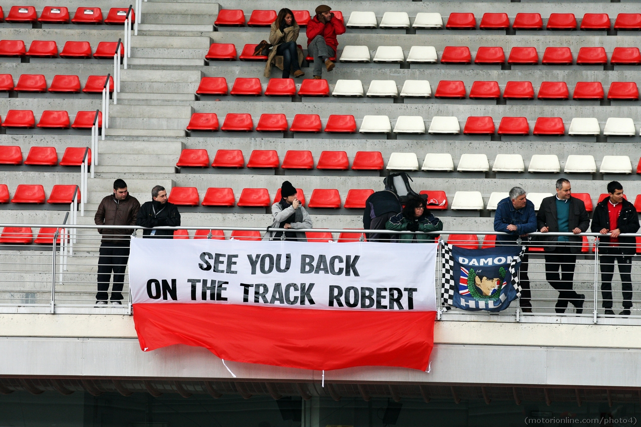 Banner for Robert Kubica (POL). 01.03.2013.