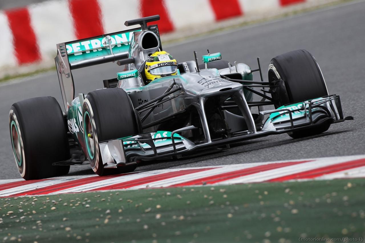 Nico Rosberg (GER) Mercedes AMG F1 W04. 01.03.2013.