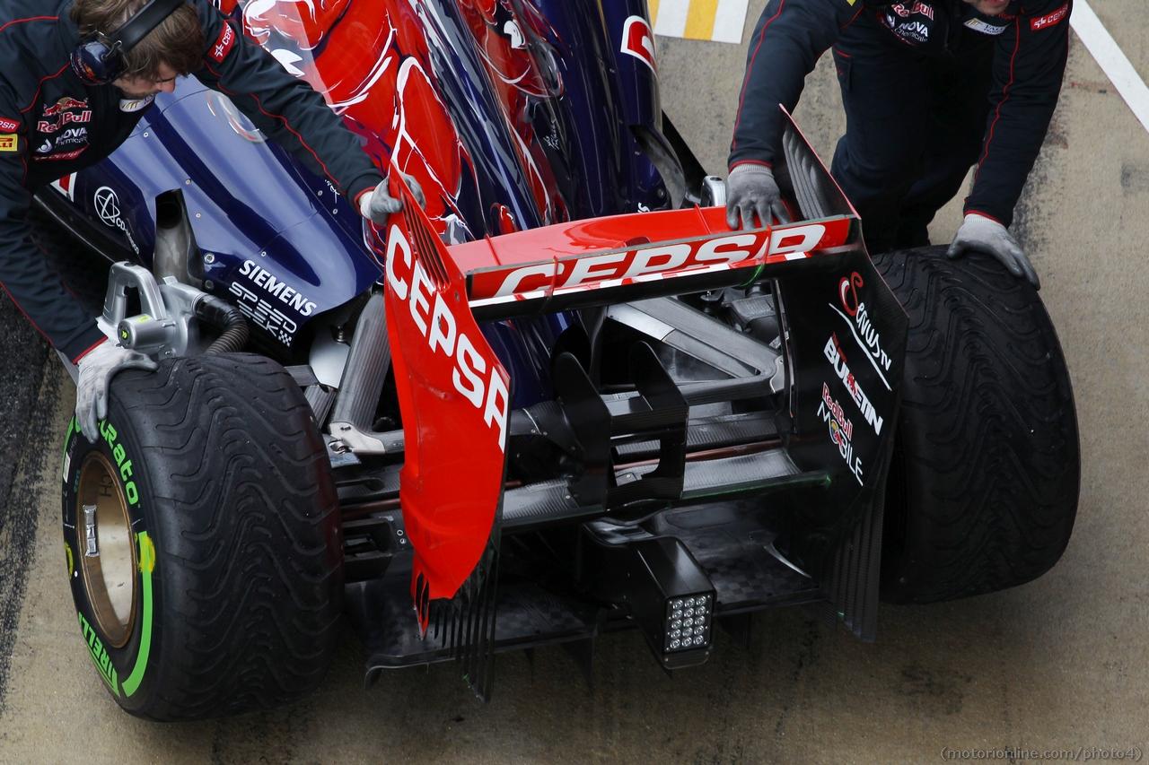 Scuderia Toro Rosso STR8 rear wing. 01.03.2013.