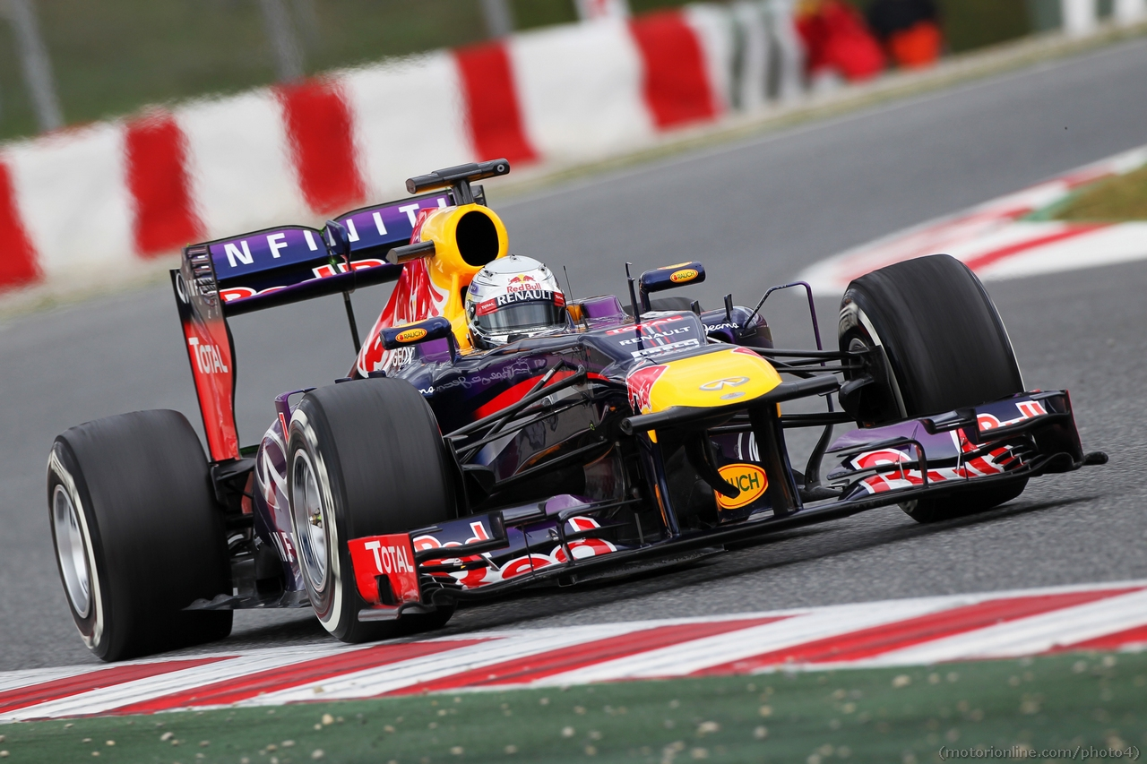 Sebastian Vettel (GER) Red Bull Racing RB9. 01.03.2013.