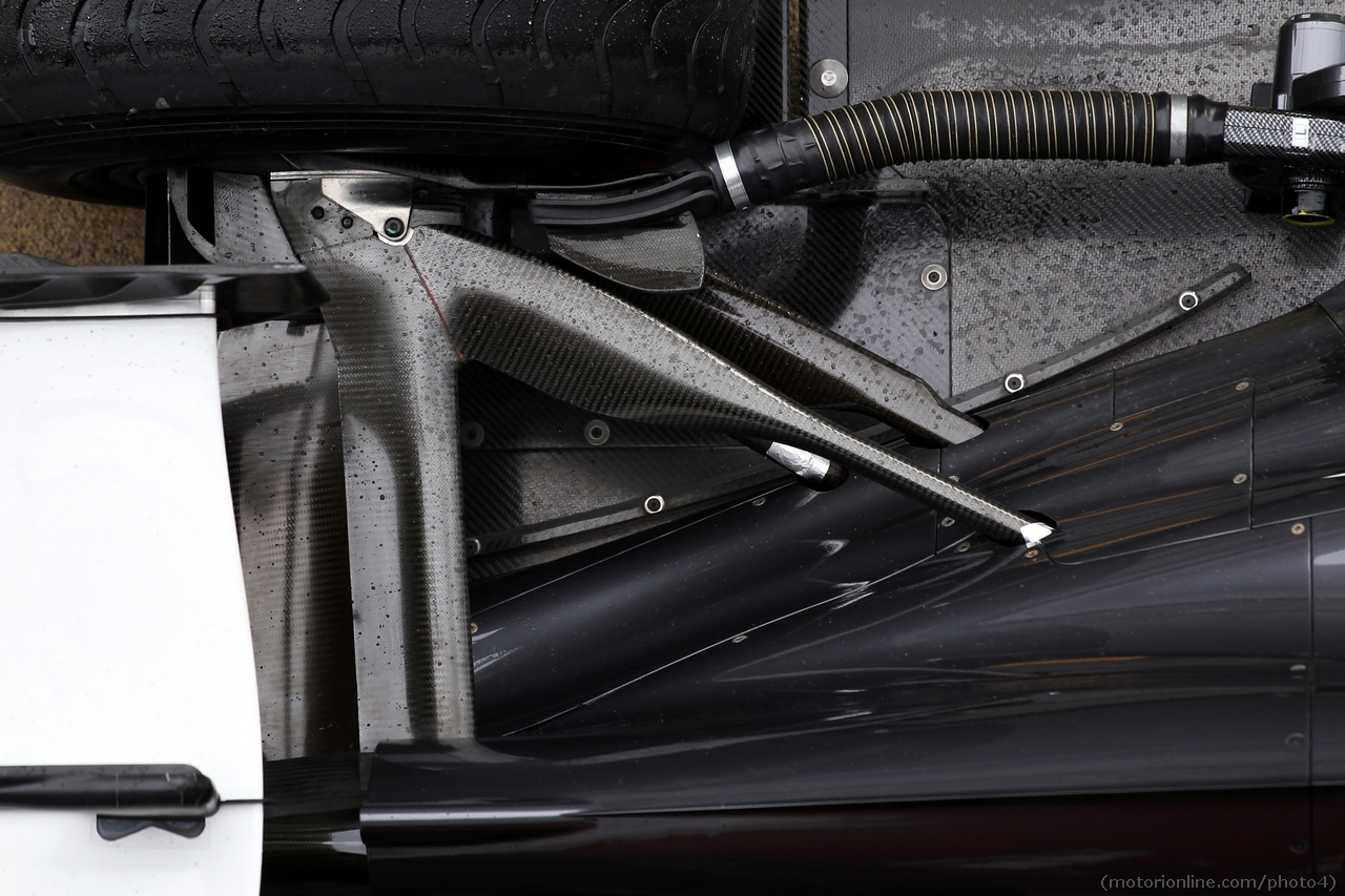 Sauber C32 rear suspension. 01.03.2013.