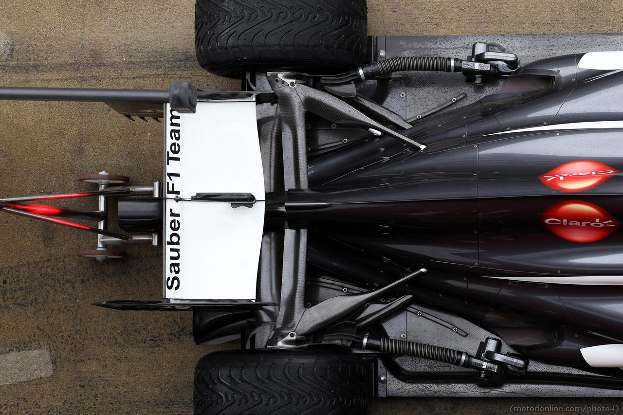 Sauber C32 rear wing, rear suspension. 01.03.2013.