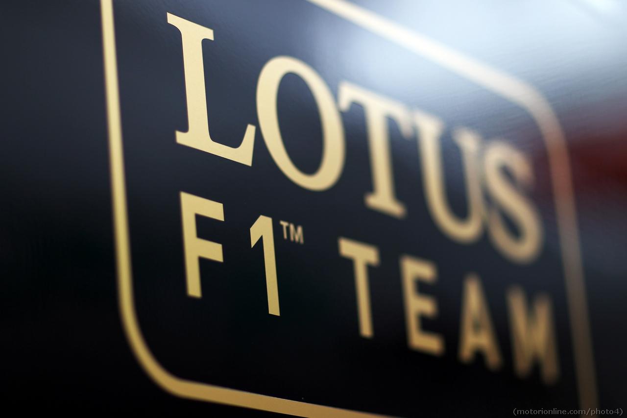 Lotus F1 Team logo. 01.03.2013.