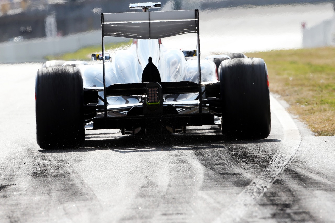 Esteban Gutierrez (MEX) Sauber C32 rear diffuser detail.