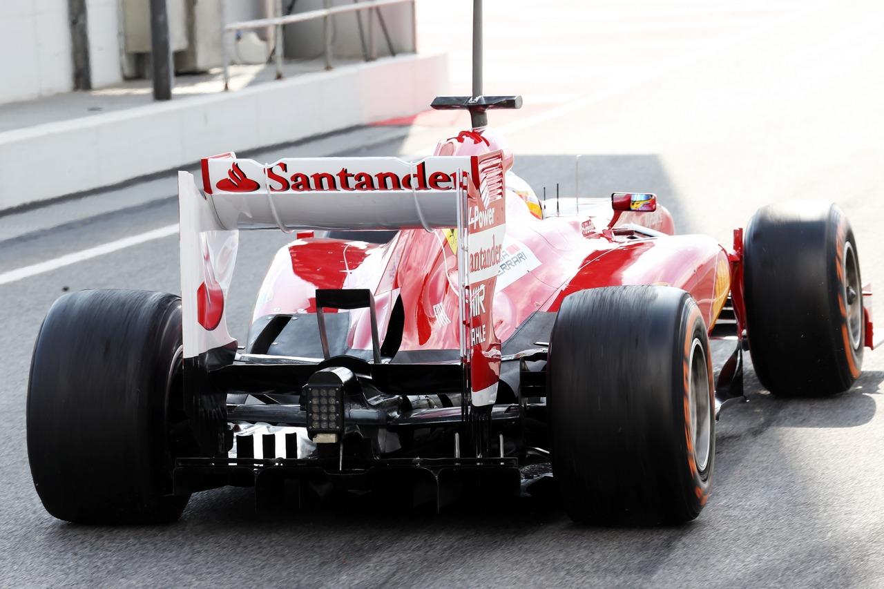 Fernando Alonso (ESP) Ferrari F138 rear diffuser detail.