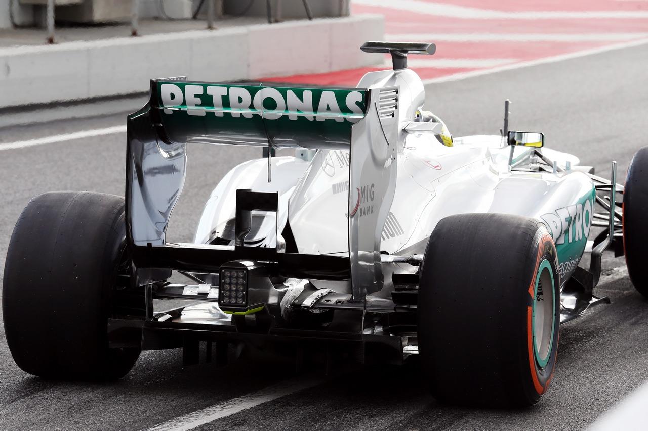 Nico Rosberg (GER) Mercedes AMG F1 W04 rear diffuser.