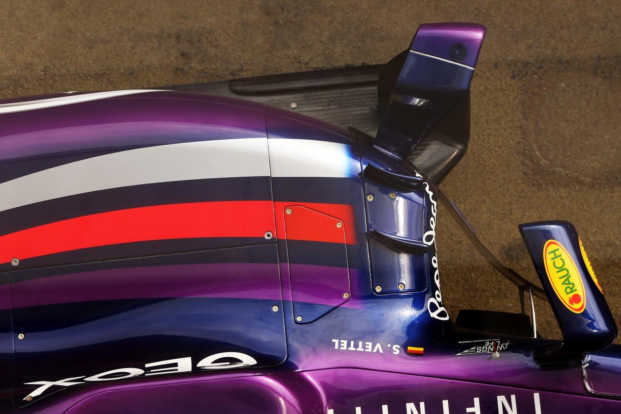 Red Bull Racing RB9 sidepod.
