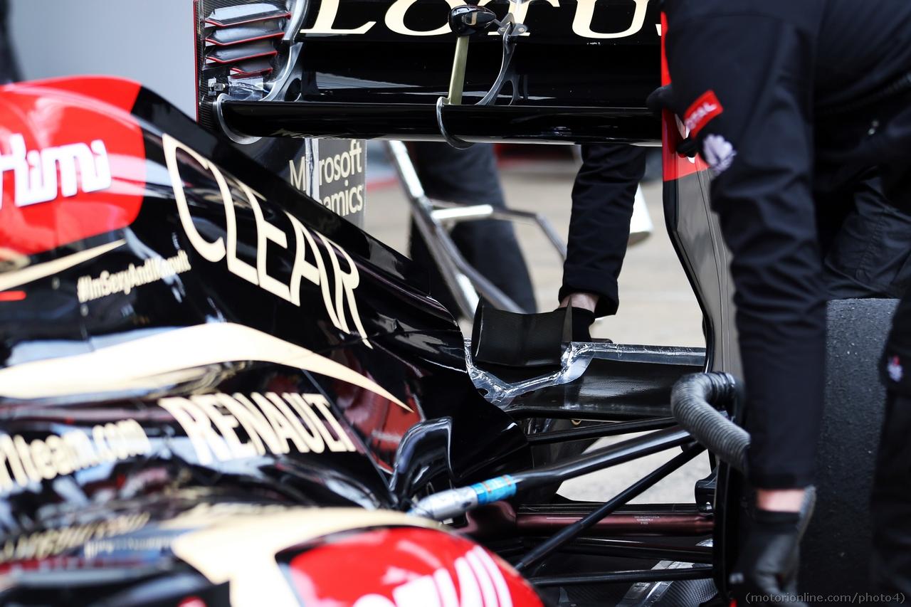 Lotus F1 E21 rear wing detail.