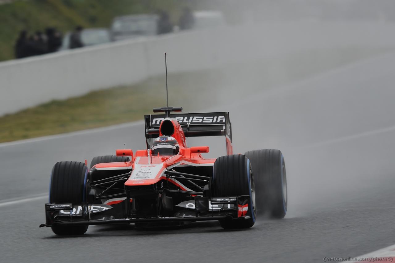 Max Chilton (GBR) Marussia F1 Team MR02. 22.02.2013.