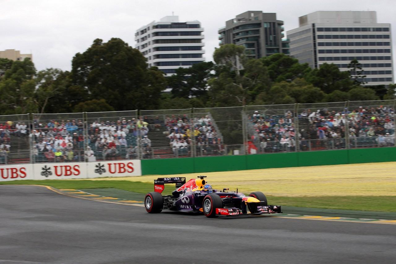 17.03.2013- Qualifying, Sebastian Vettel (GER) Red Bull Racing RB9