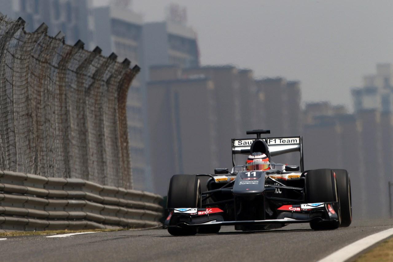 12.04.2013- Free Practice 1, Nico Hulkenberg (GER) Sauber F1 Team C32