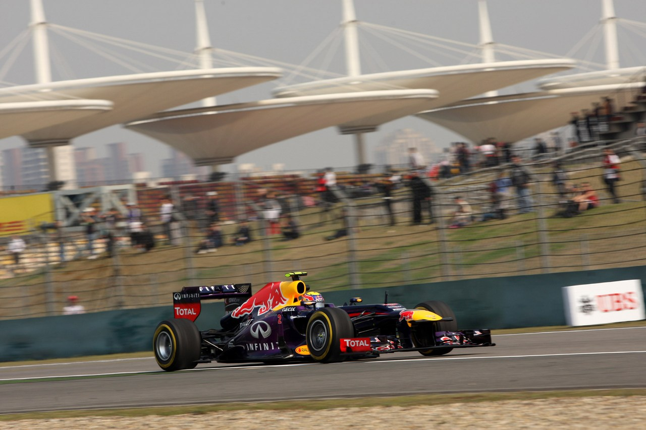 12.04.2013- Free Practice 2, Mark Webber (AUS) Red Bull Racing RB9