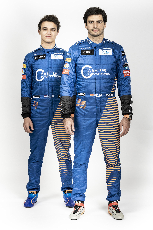 Lando Norris and Carlos Sainz staggered