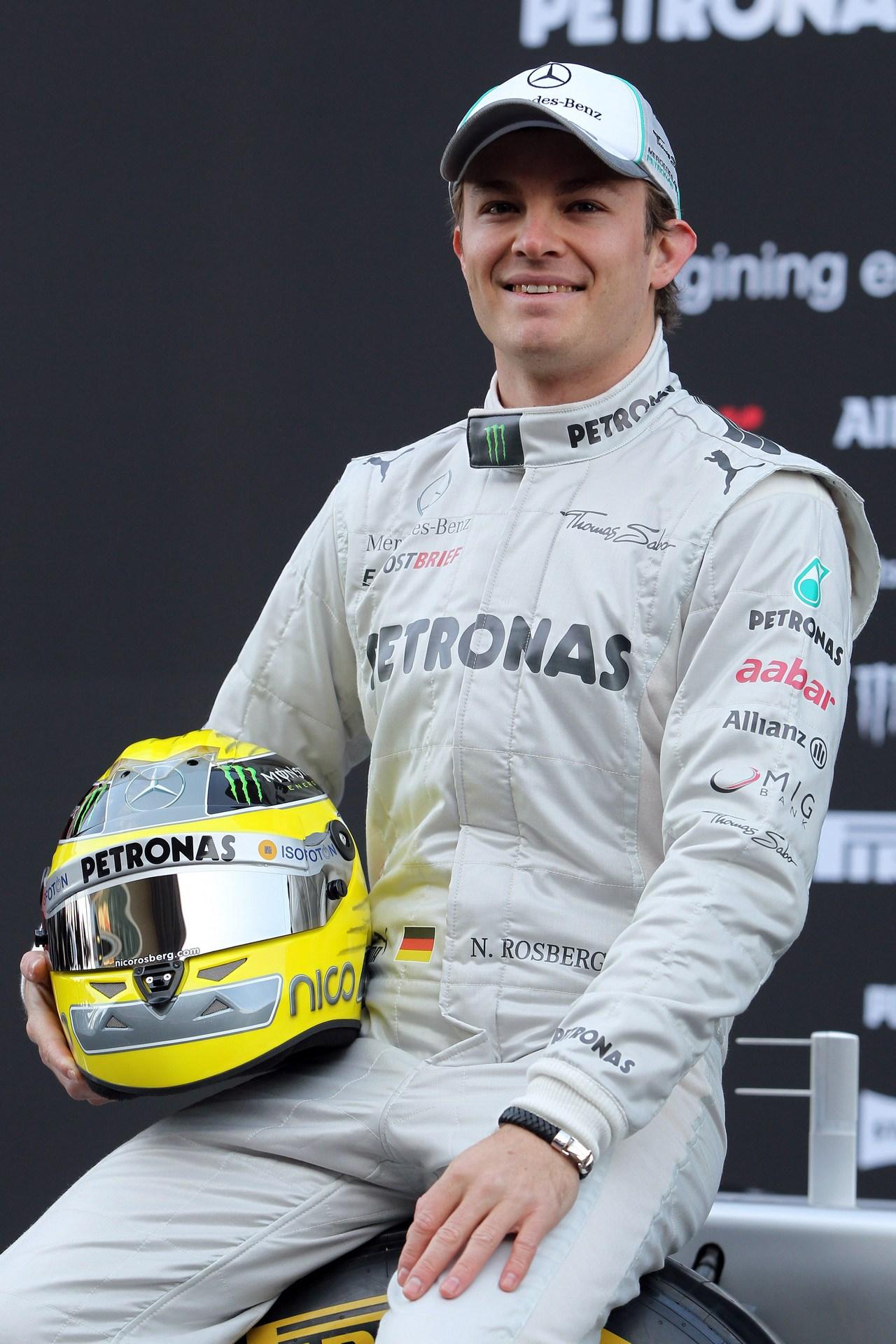 21.02.2012 Barcelona, Spain, Nico Rosberg (GER), Mercedes GP - Mercedes F1 W03 Launch