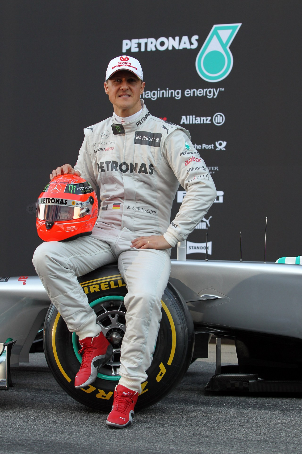21.02.2012 Barcelona, Spain, Michael Schumacher (GER), Mercedes GP- Mercedes F1 W03 Launch