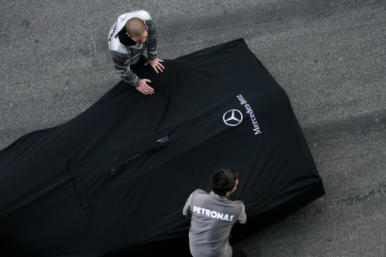 21.02.2012 Barcelona, Spain, Atmosphere - Mercedes F1 W03 Launch