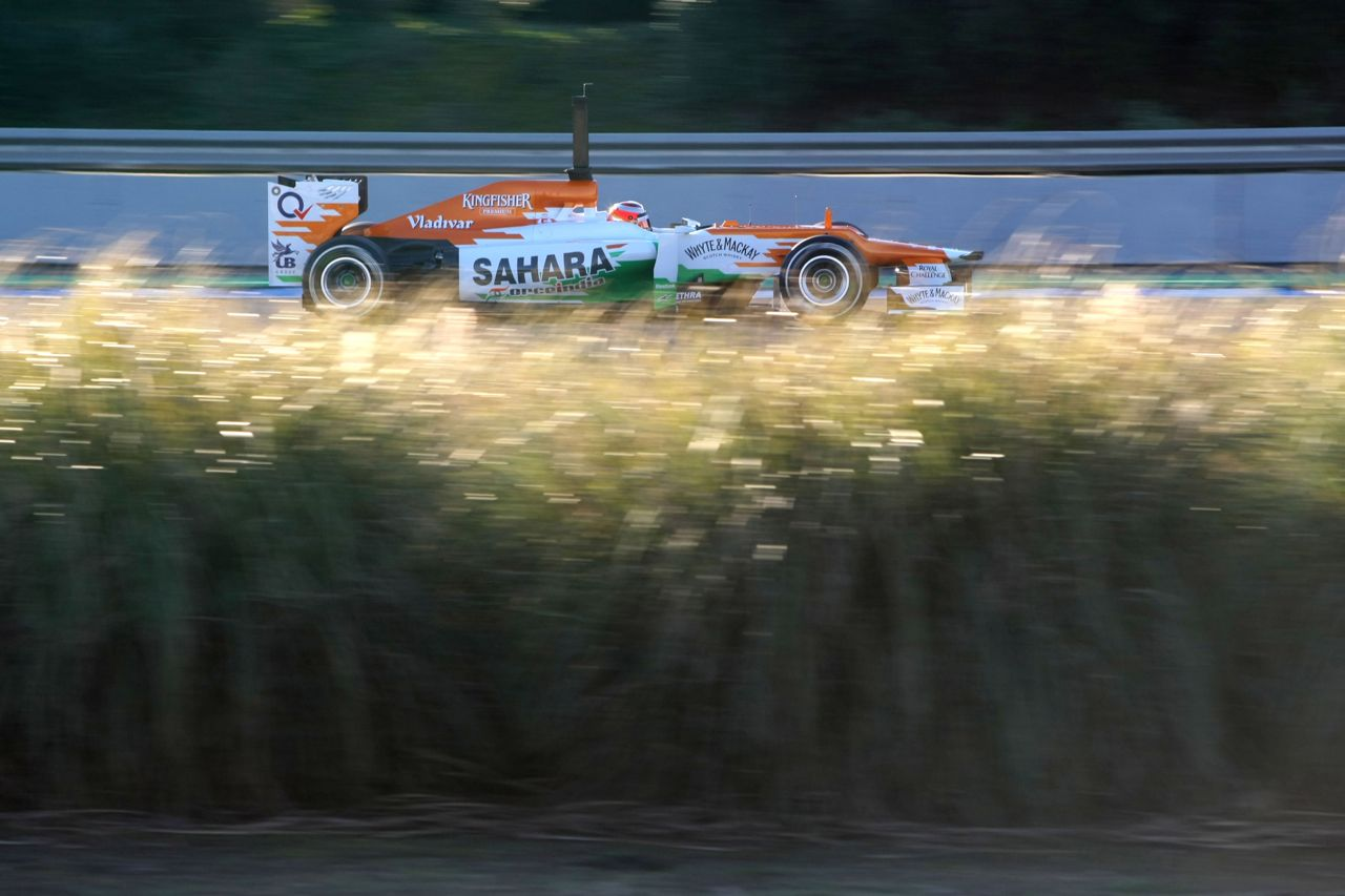 08.02.2012 Jerez, Spain, Jules Bianchi (FRA), Sahara Force India Formula One Team   - Formula 1 Testing, day 1 - Formula 1 World Championship