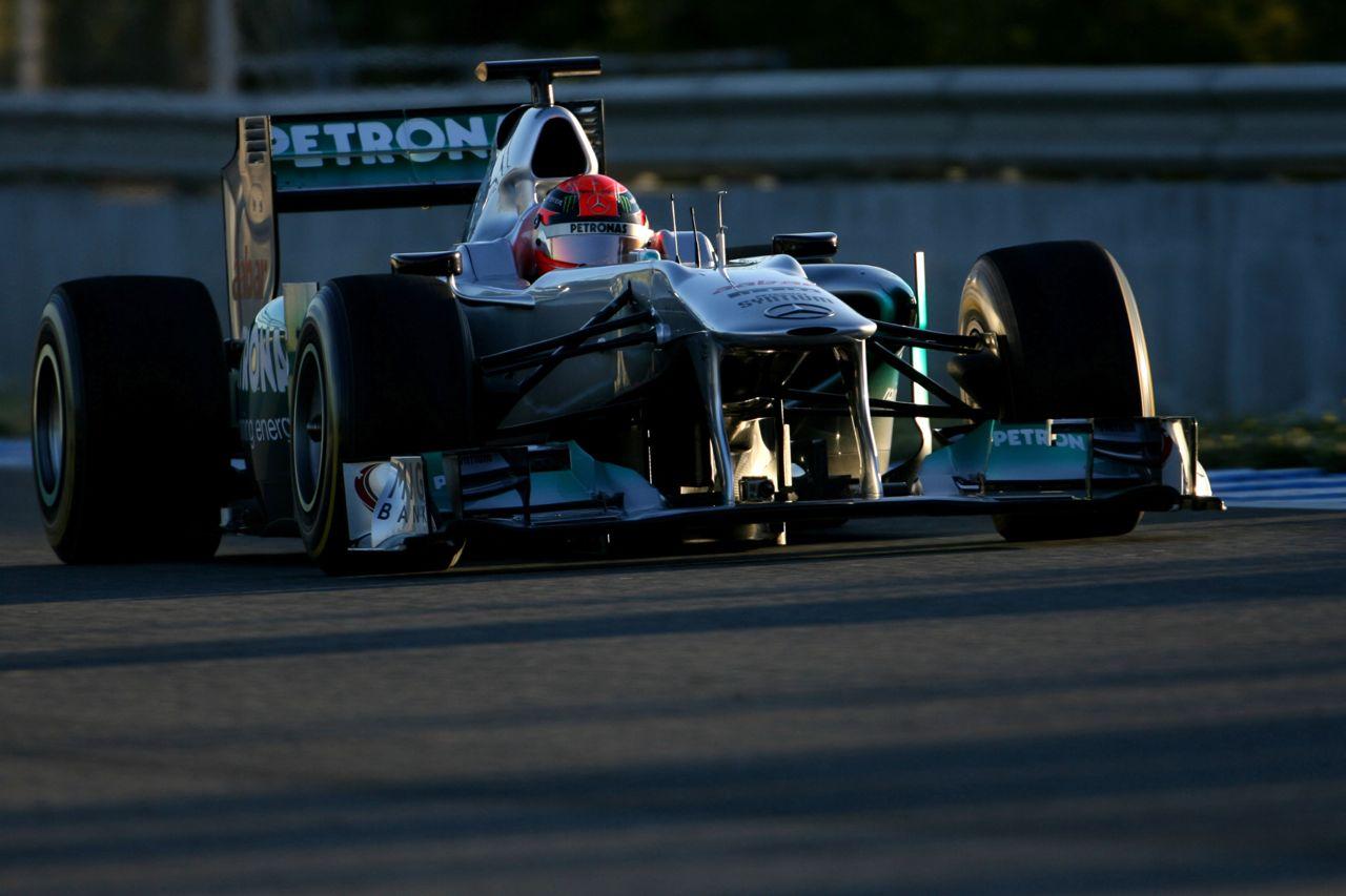 08.02.2012 Jerez, Spain, Michael Schumacher (GER), Mercedes GP   - Formula 1 Testing, day 1 - Formula 1 World Championship