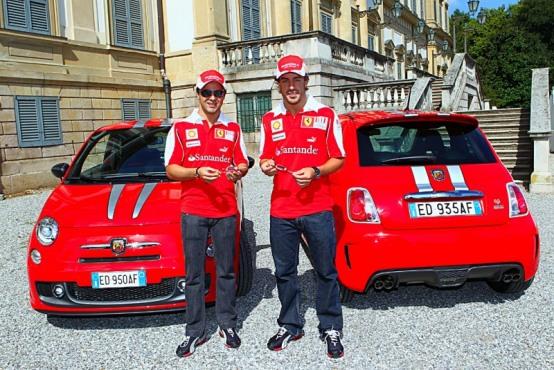 Abarth 695 Tributo Ferrari per i piloti della Scuderia Ferrari Alonso e Massa