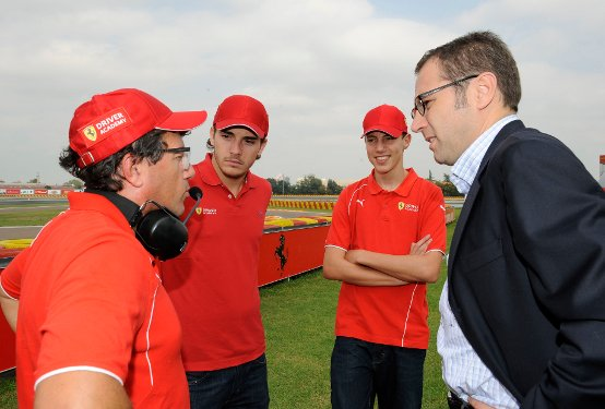 Ferrari Driver Academy stage