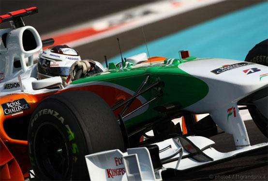 Force India: obiettivo zona punti per Sutil ad Abu Dhabi