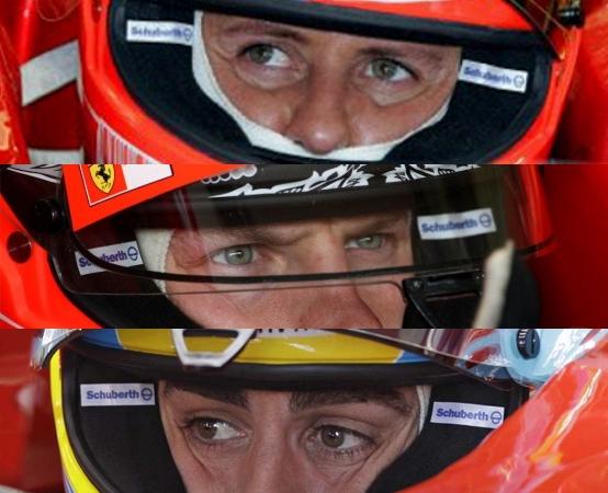Il primo anno in Ferrari: Schumacher, Raikkonen, Alonso