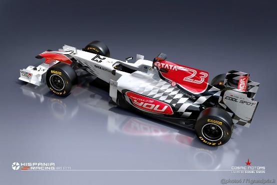 La nuova monoposto HRT farà il suo debutto a Barcellona