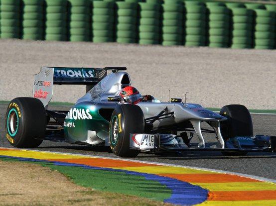 Mercedes GP: Schumacher soddisfatto del test di Valencia