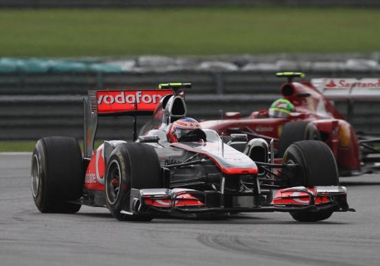 Button confuso ma contento del secondo posto in Malesia