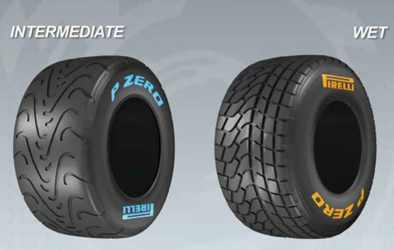 Video: Le gomme Pirelli F1 Intermedie e Wet