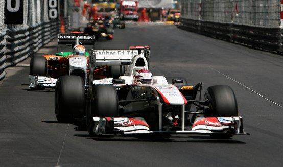 Sauber: Kobayashi quinto a Monaco con un solo pitstop