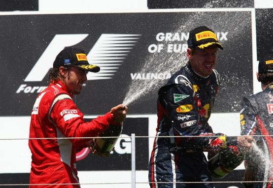Ferrari, Alonso secondo e Massa quinto a Valencia