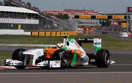 Force India, Paul di Resta subito veloce al debutto sul circuito di Montreal