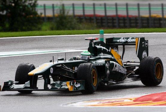 Team Lotus: Kovalainen, Trulli e Chandhok al lavoro nelle libere di Spa-Francorchamps