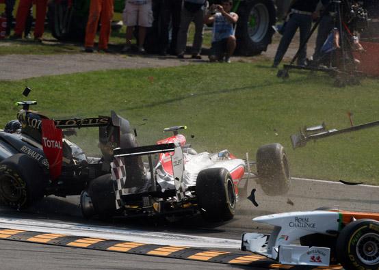 Tonio Liuzzi accusa Heikki Kovalainen per l'incidente al Gran Premio d'Italia