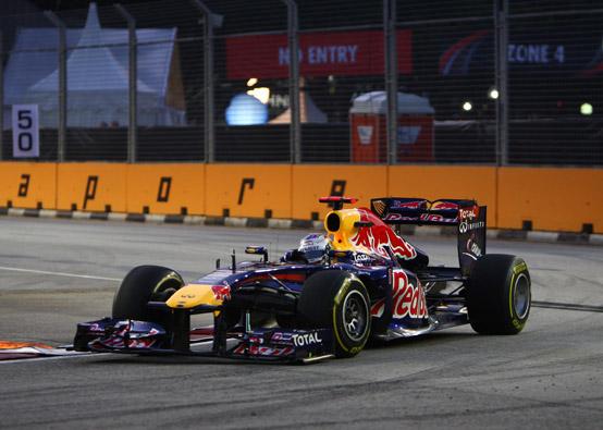 GP Singapore, Prove Libere 2: Vettel al comando davanti ad Alonso ed Hamilton