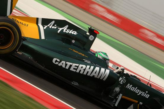 Caterham manterrà la livrea verde e gialla della Lotus